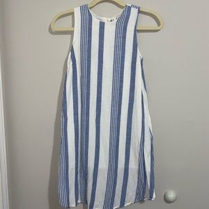 Tank blue and white dress